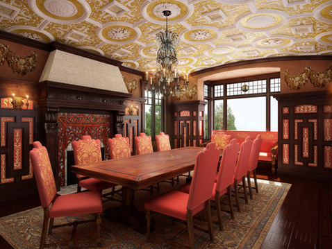 Interior Home Rendering of a Dining Room