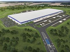 Warehouse Aerial Rendering