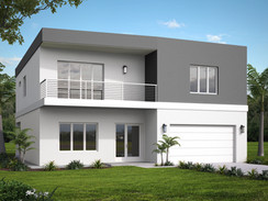 Rendering of a Modern Home