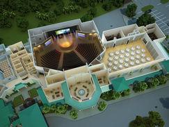 3D Floor Plan of a Church