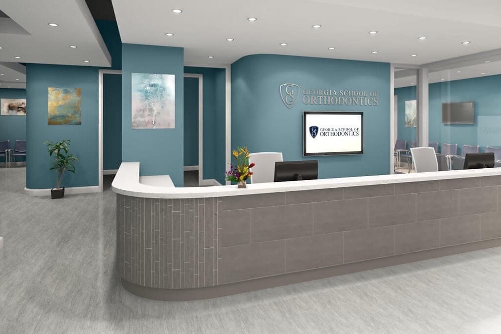 Commercial Interior Rendering of an Orthodontics School