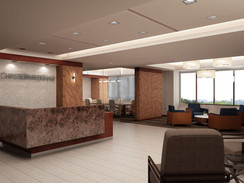 Rendering of an Office Front Desk