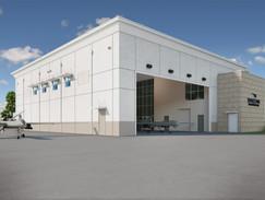 Aeronautical Hangar Rendering