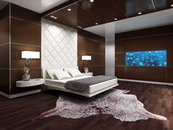3D Rendering of a Luxurious Master Bedroom