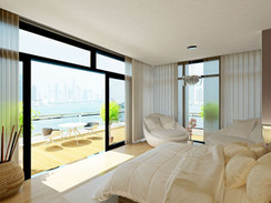 Photorealistic 3D Rendering of a Master Bedroom