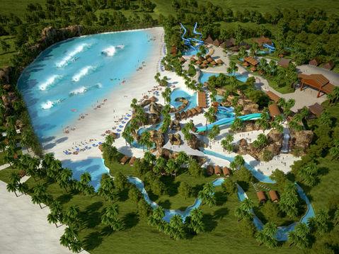 Aerial 3D Rendering of a Water Park
