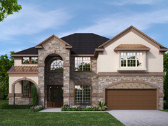 Front View Exterior Home Rendering
