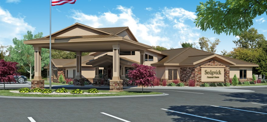 Architectural Rendering of a Funeral Home