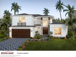 Modern Style Home Rendering