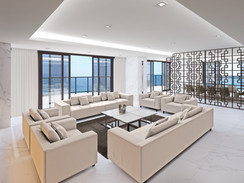 High Rise Living Room Rendering