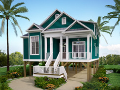 3D Rendering of an Elevated Beach House