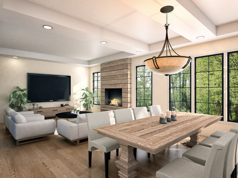 Photorealistic Home Dining Room Rendering