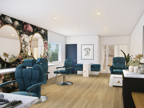 Beauty Salon Interior Rendering