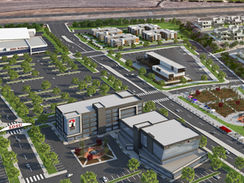 Aerial Rendering of an SDSU Construction