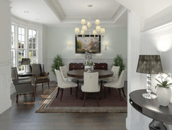 Rendering of a Mid Sized Home Dining Room