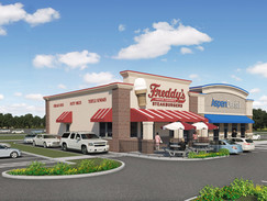 3D Rendering of a Fast Food Restaurant
