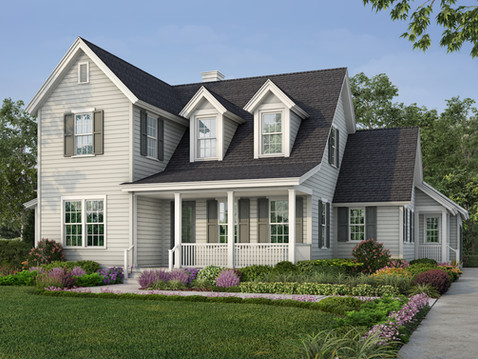 Colonial Style Home Rendering
