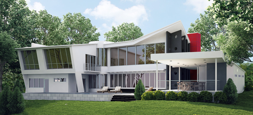 Photorealistic Architectural Rendering of a Modern Home