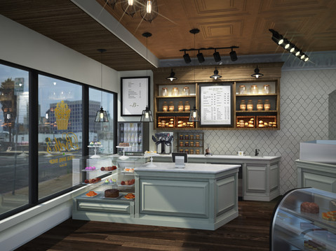 A Photorealistic Rendering of a Bakery Interior