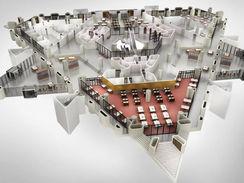 3D Floor Plan of a Mall