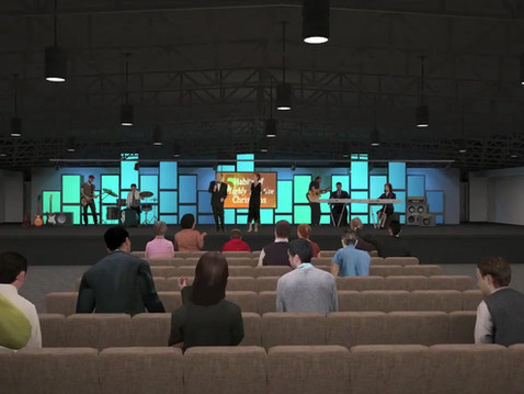 Rendered Animation of a Community Center