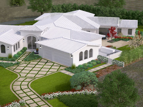 Aerial 3D Rendering of a Home