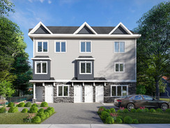 Photorealistic Architectural Rendering of an Apartment Building