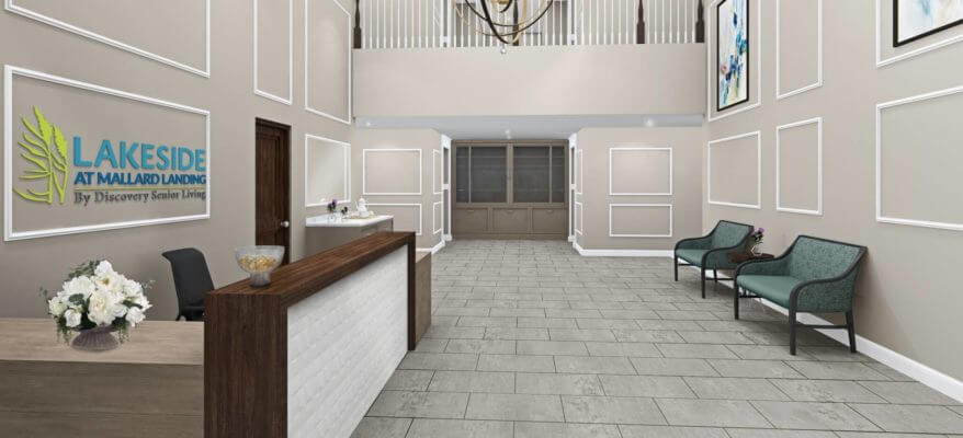 3D Rendering of a Senior Living Facility
