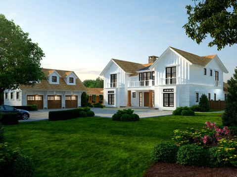 Front View of Residential Exterior Rendering