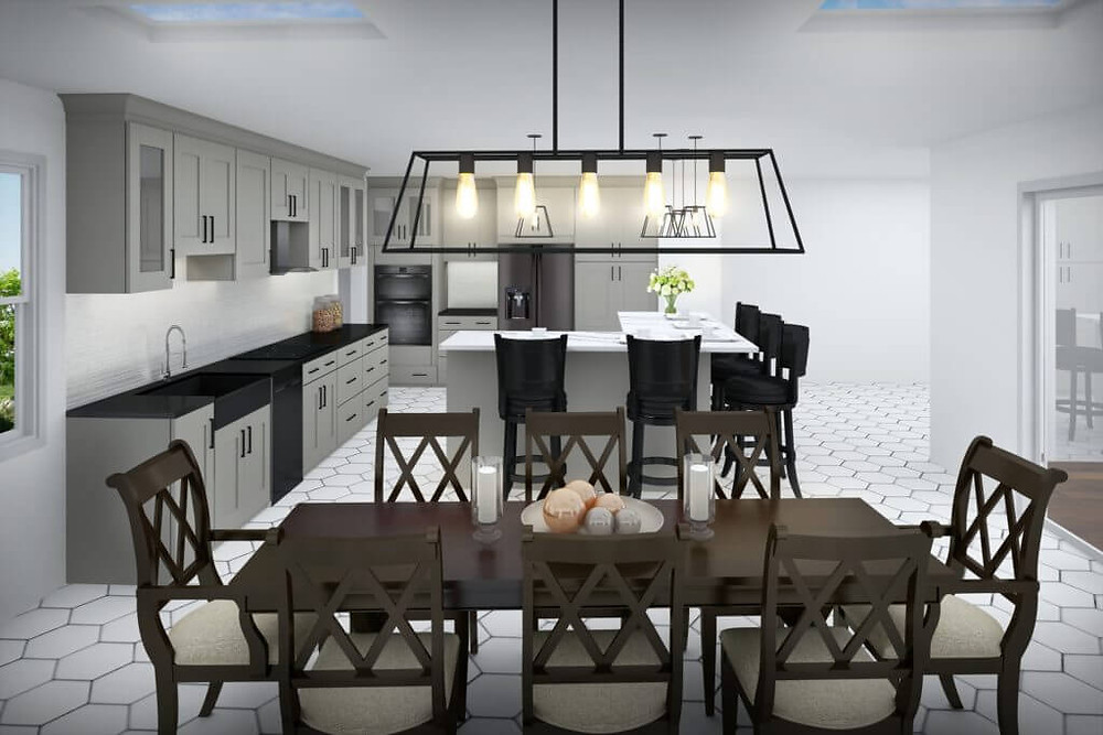 3D Rendering of a Kitchen Renovation