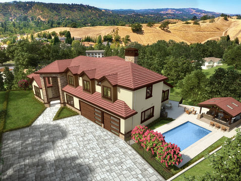 Aerial Rendering of a Home