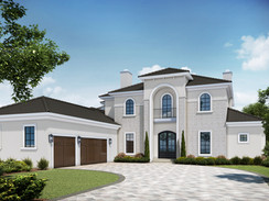 Exterior Rendering of a Large Home