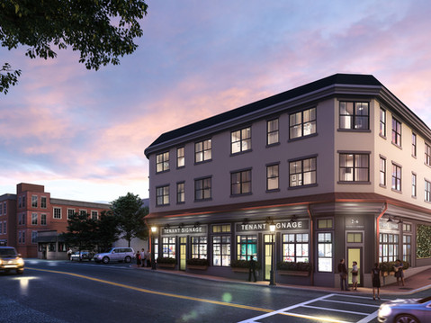 Twilight Commercial Exterior Rendering