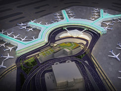 Aerial 3D Rendering of an Airport