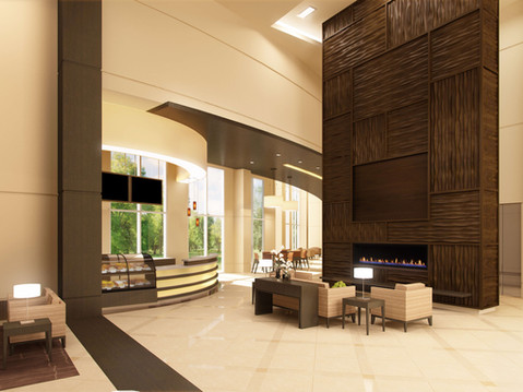 Commercial Interior Rendering of a Lobby