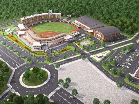 Baseball Field Aerial Rendering