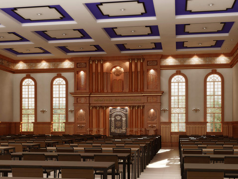 Synagogue Interior 3D Rendering