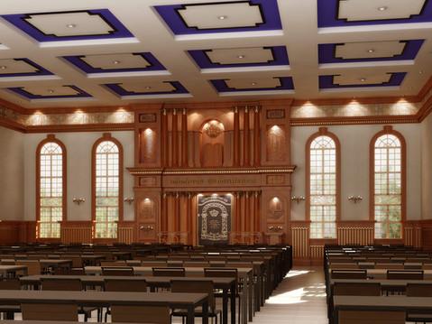Synagogue Interior 3D Rendering