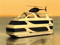 3D Rendering of a Luxury Yacht