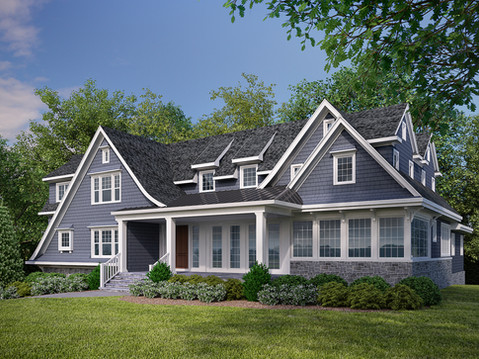 Photorealistic House Exterior 3D Rendering