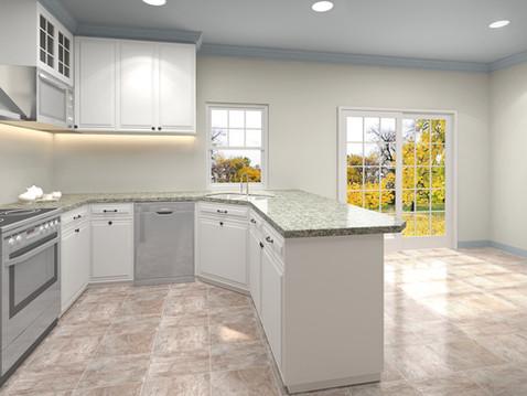 Photorealistic Kitchen 3D Rendering