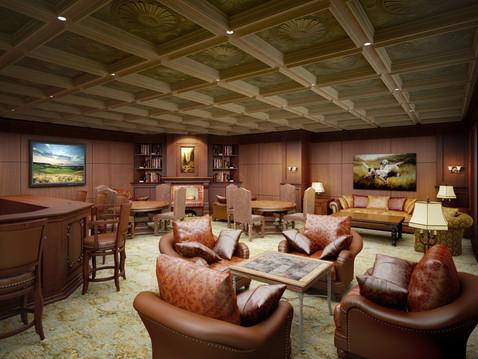 Commercial Member Lounge Rendering