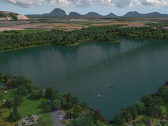 3D Animation of a Lake and Park