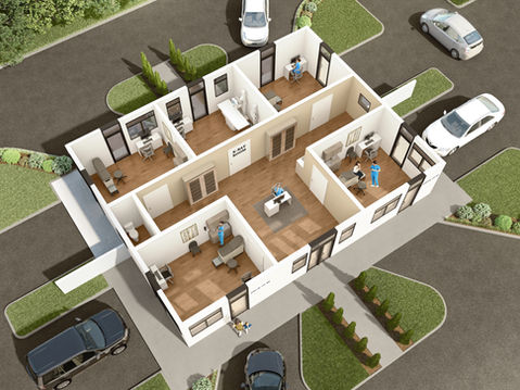Virti MD Drive Up Care 3D Floor Plan