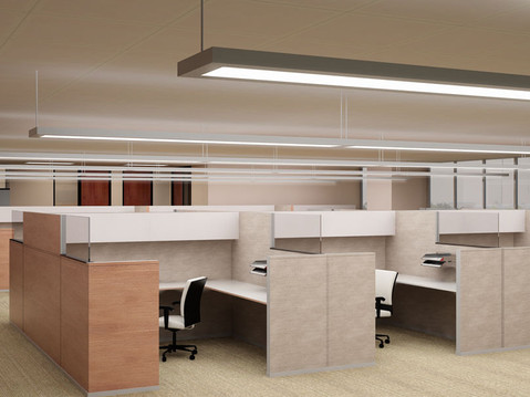 Office Cubicle Layout Rendering