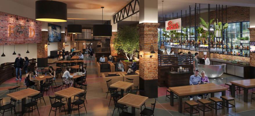 3D Rendering of a Restaurant Interior