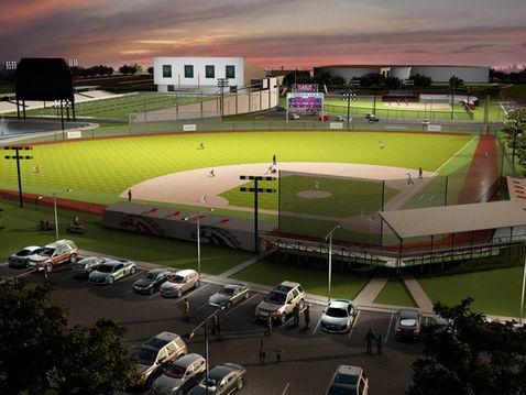 Aerial Rendering of a Baseball Field