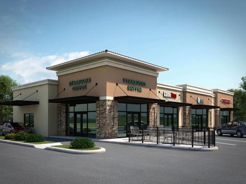 Starbucks Shopping Center Rendering