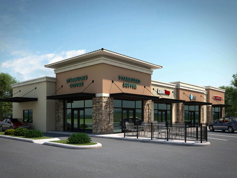 Starbucks Shopping Center Rendering