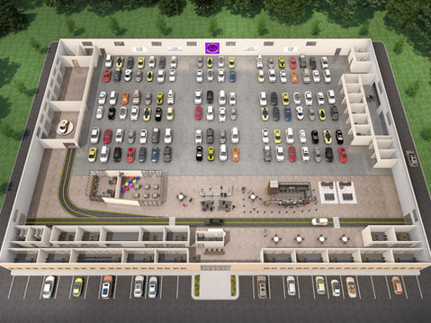 Auto Auction 3D Floor Plan